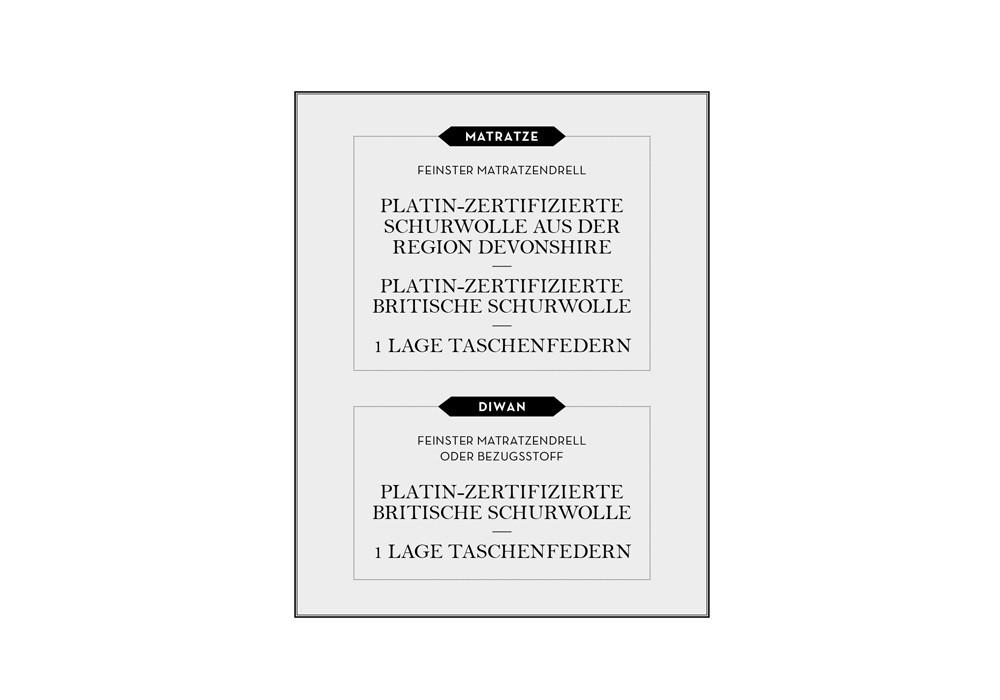 VISPRING | Boxspringbett | Baronet Superb Tafel