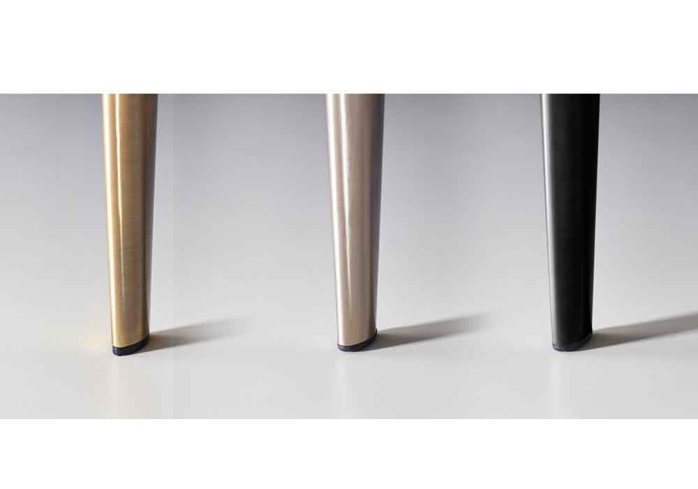 J. Marshall Bettfüße, Classic Brass, Brushed Steel, Black Chrome
