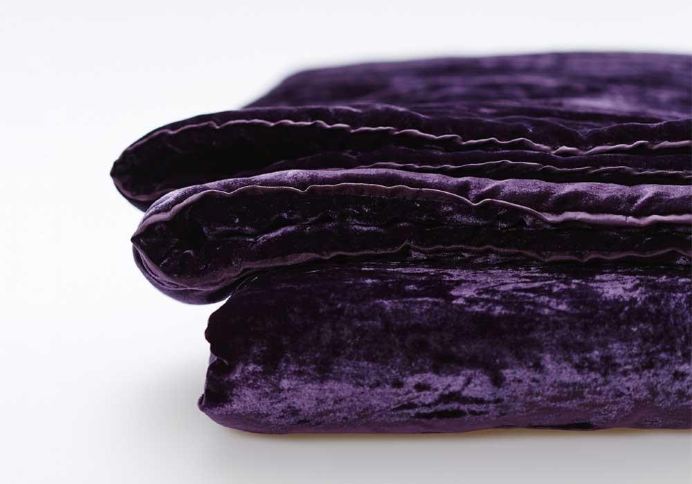 SCHRAMM   Dekodecke   Fleuriel Purple LEENERS®