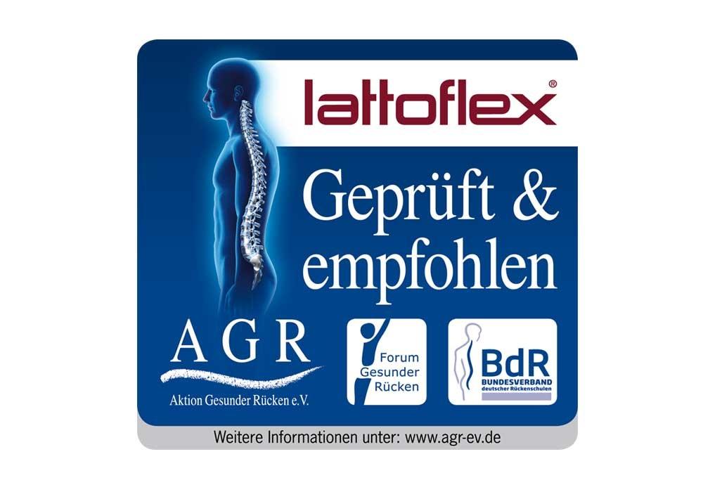 Guetesiegel agr für Lattoflex Produkte