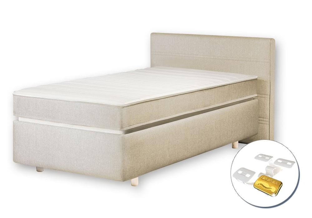 High-Tech Lattoflex Bett 200. Die patentierte Lattoflex-Flügelfederung ist in diesem Bett integriert