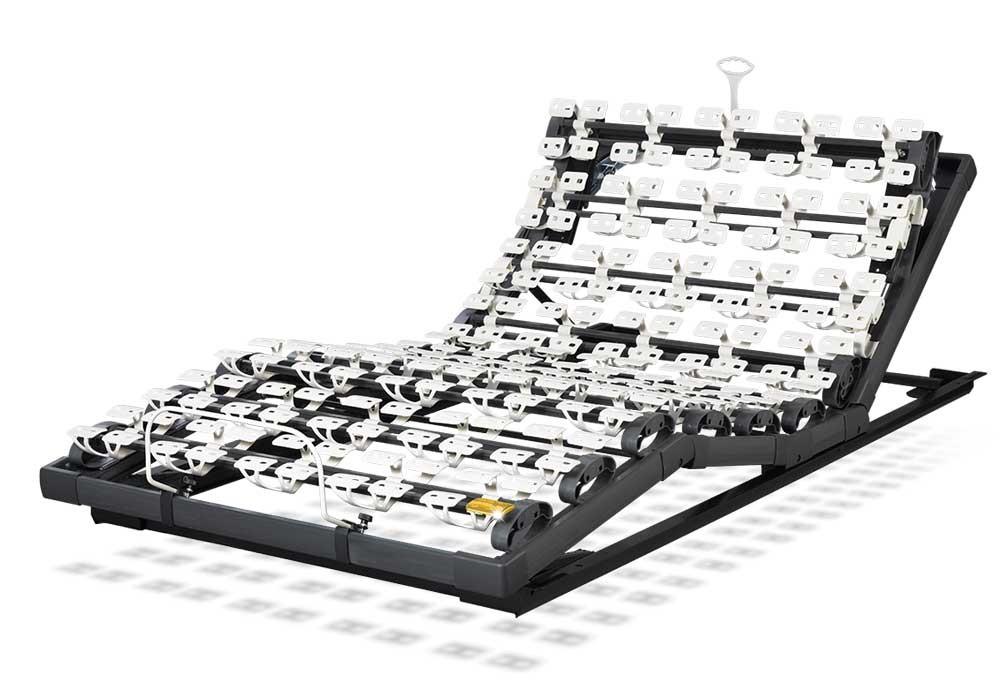 Die motorische Unterfederung Lattoflex 284 besteht aus vier Motoren für Kopf, Oberkörper/Rücken, Oberschenkel und Unterschenkel