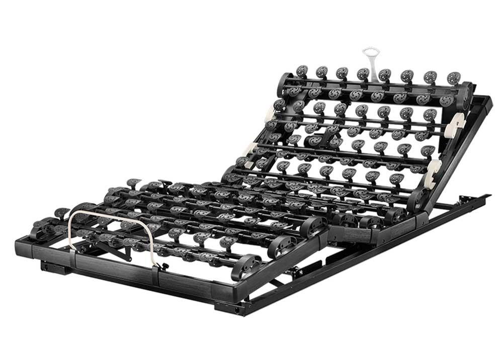 Die motorische Unterfederung Lattoflex Thevo 982 besteht aus zwei Motoren und drei Einstellungsmöglichkeiten für Kopf, Oberkörper/Rücken und Oberschenkel