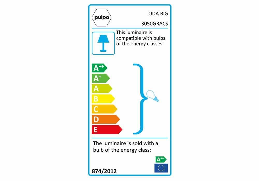 pulpo | Leuchte | ODA BIG 3050GRCHR Energieklasse 3050GRACS