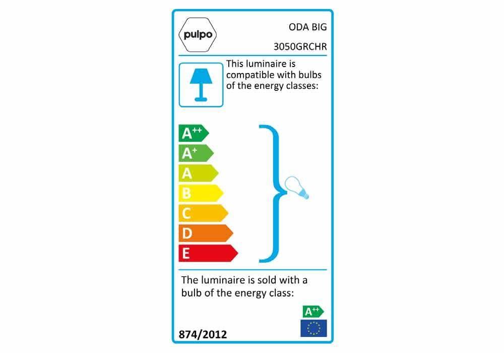 pulpo | Leuchte | ODA BIG 3050GRCHR Energieklasse GS