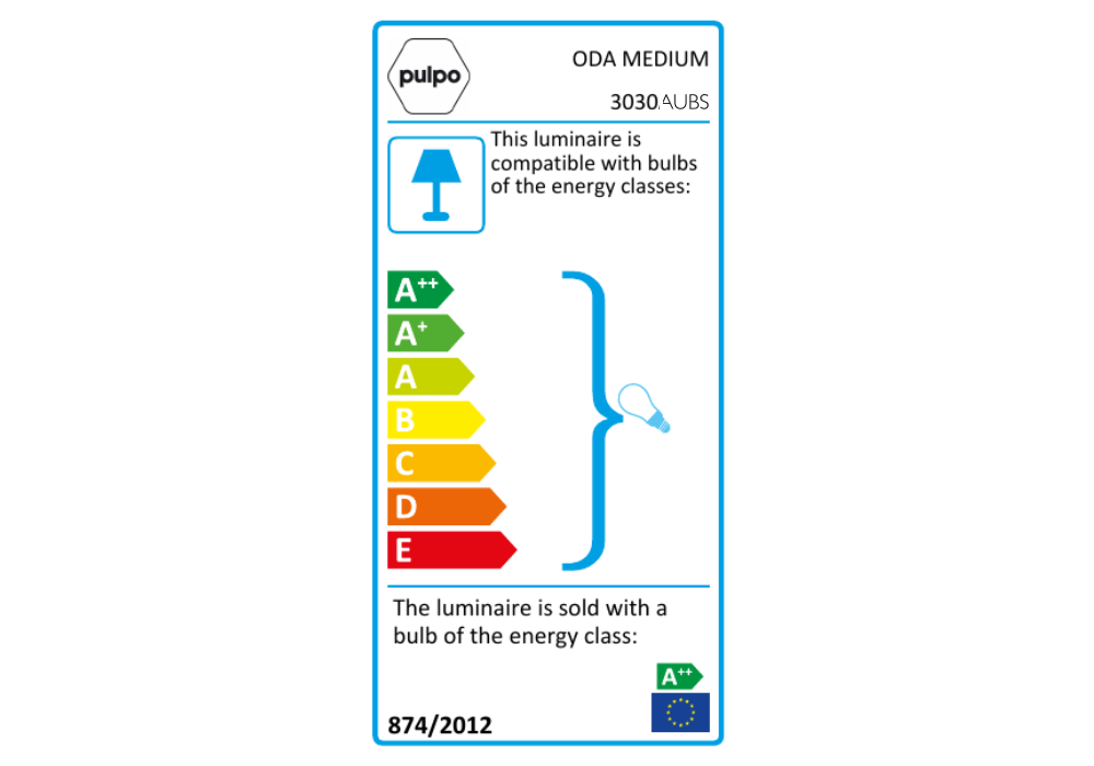 pulpo | Leuchte | ODA MEDIUM Energieklasse
