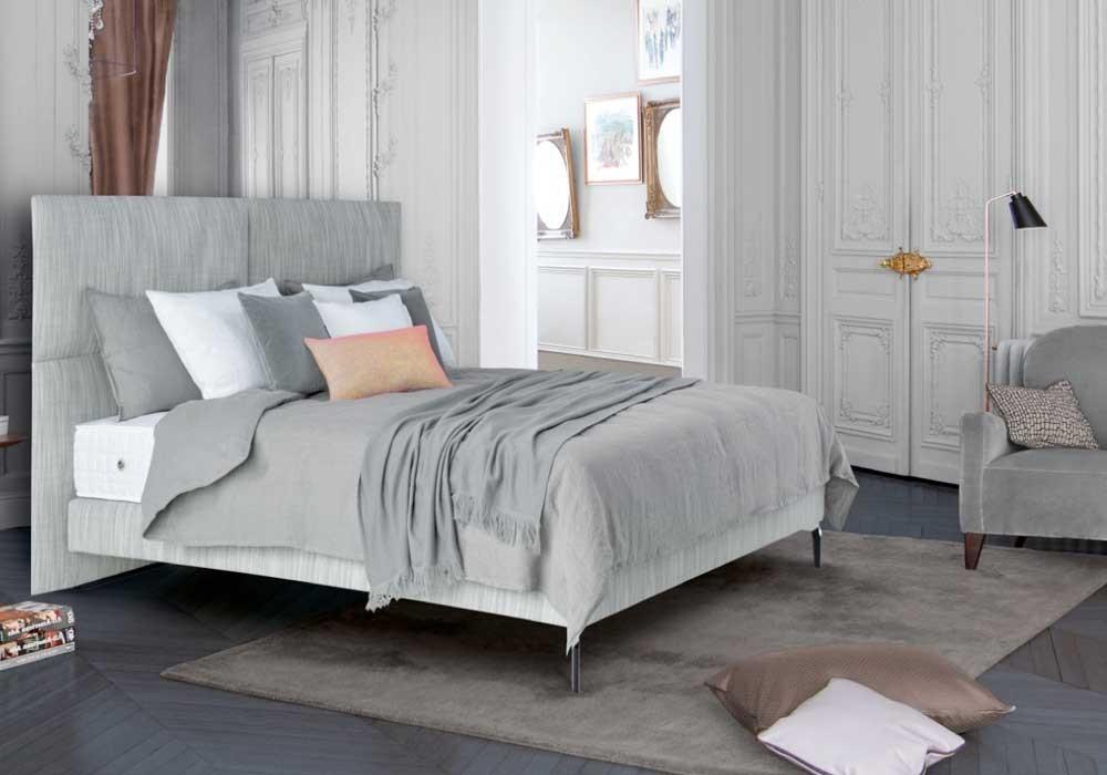 TRECA | Boxspringbett | PORTOFINO - vier geteiltes Kopfteil verleiht dem dem Bett einen modernen Charakter.