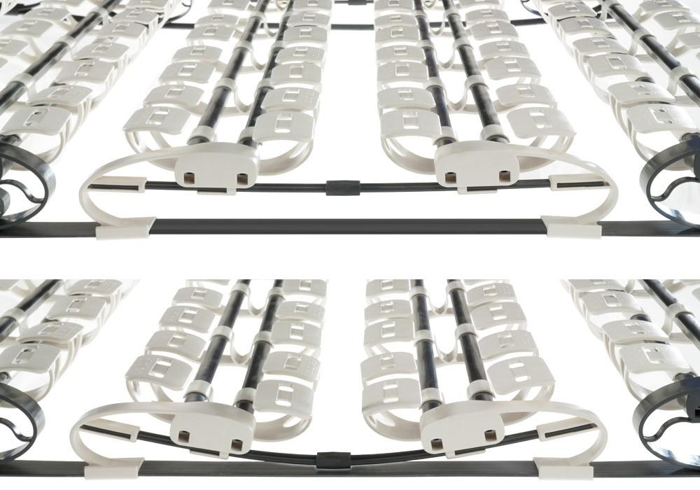 Patentierte Flügelfedern stützen den Körper ab und folgen bei minimaler Auflagefläche elastisch jeder Schlafbewegung.