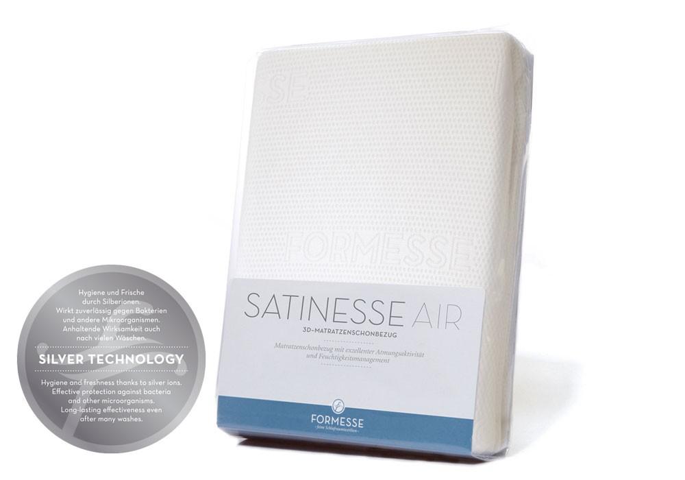 Satinesse Air Silver Schonbezug für optimalen Wärme- & Druckausgleich ✓ Handmade in Germany ✓  ➥ gleich Online bestellen bei LEENERS® Qualitätsbetten
